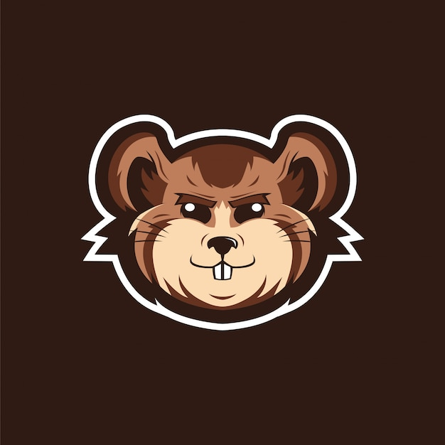 ビーバーマスコットロゴ