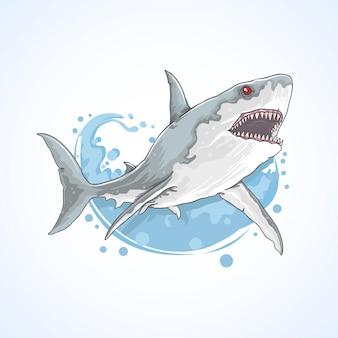 サメの野生の海