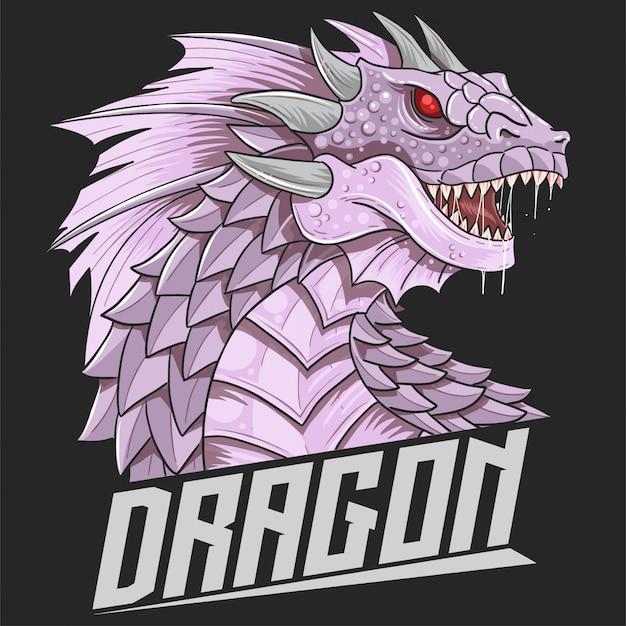 Дракон голова звезда логотип вектор