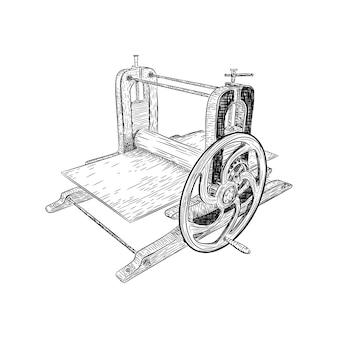 古代の印刷機