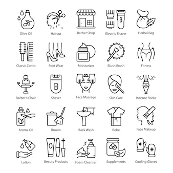 Соблазнительный набор иконок для салона красоты