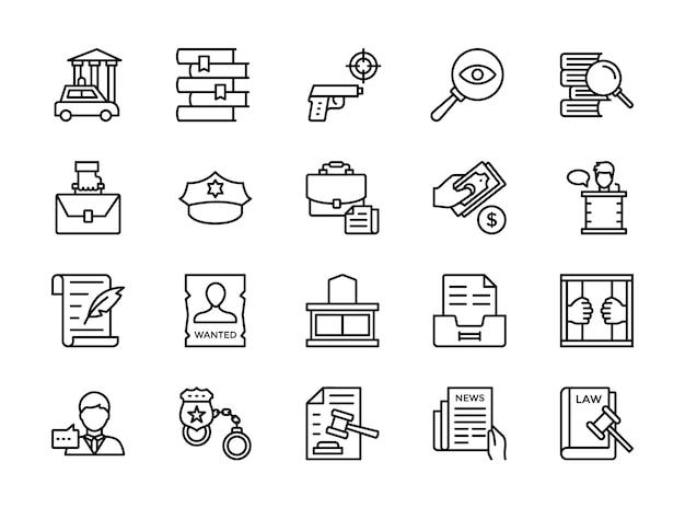 Закон и право иконы пакет