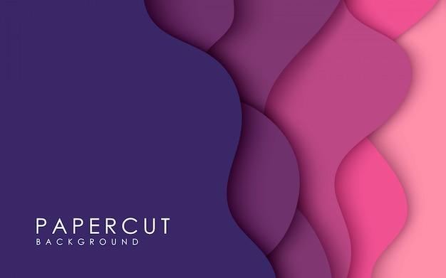 紫色のペーパーカットの背景