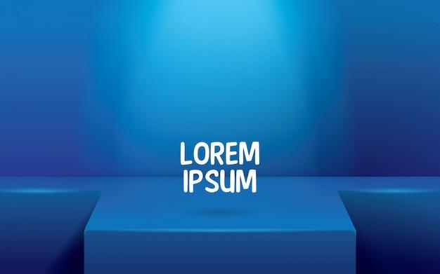 空の青い部屋の背景、コンテンツデザインの製品表示