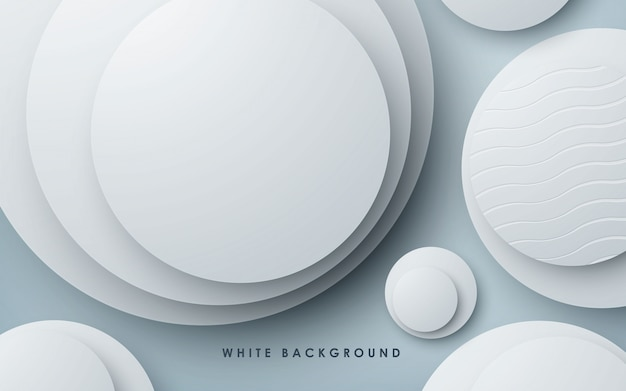 モダンな抽象的な白い背景の円図形