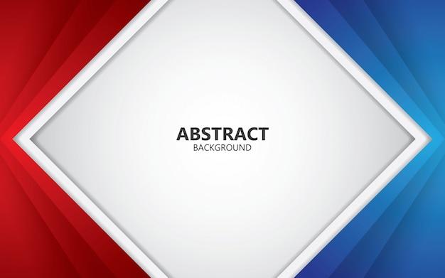 抽象的な赤と青のフレームレイアウトデザイン