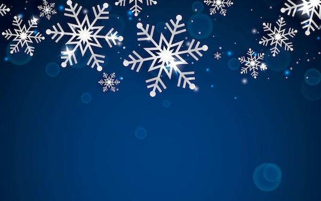冬の抽象的な雪片の背景
