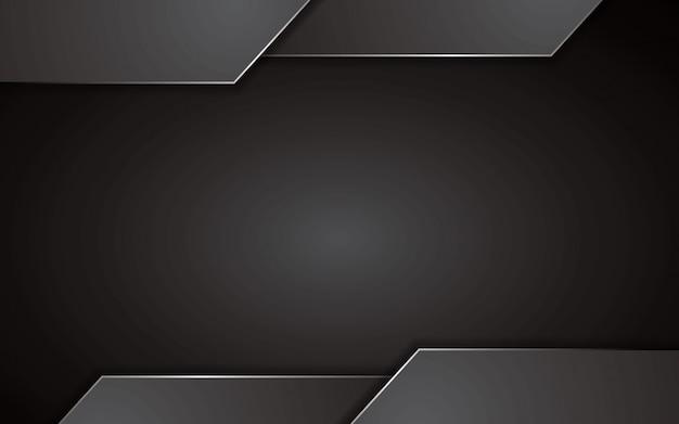 抽象的な黒背景技術コンセプトデザイン。テンプレートのベクトルの背景。