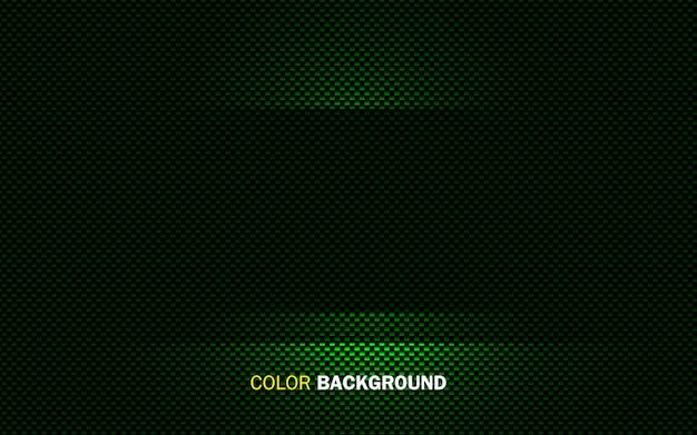 緑の抽象的な幾何学的な背景。動的光形状のコンセプト