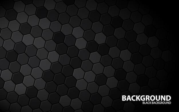 抽象的な六角形の黒い背景