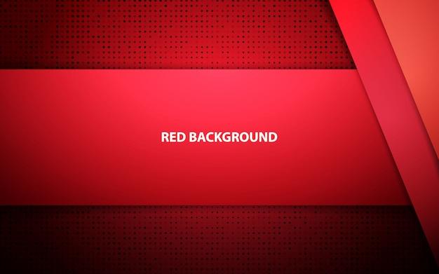赤の抽象的なオーバーラップ層のベクトルの背景