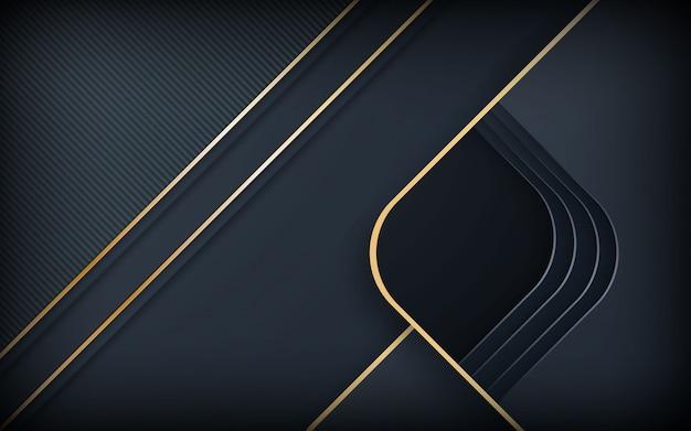 Черный абстрактный реалистичный слоистый фон