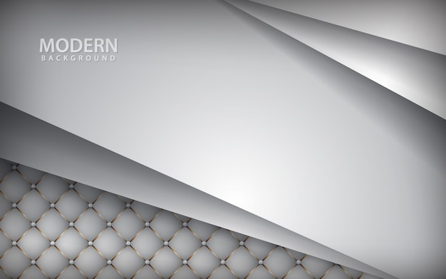 オーバーラップ層と高級ホワイトレザーの背景