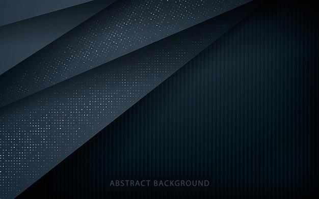 銀の輝きを持つ抽象的なオーバーラップ層