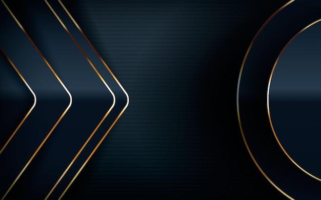 Современный дизайн со светло-золотой линией