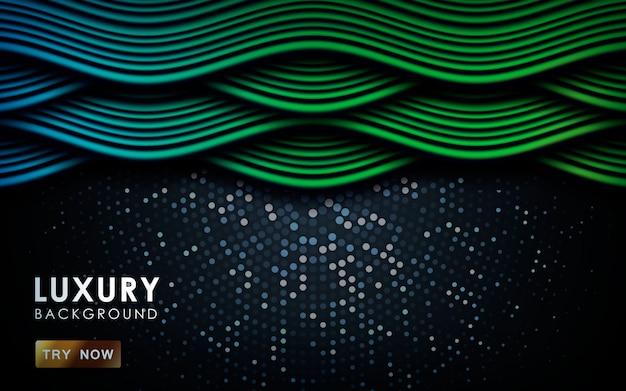 Синий и зеленый градиент динамический фон волны