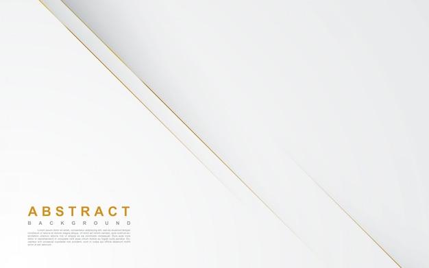 ゴールドラインと抽象的な白い背景