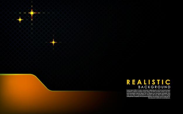 金の層と現実的な黒の背景