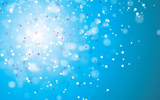 抽象的な青いボケ背景ベクトル