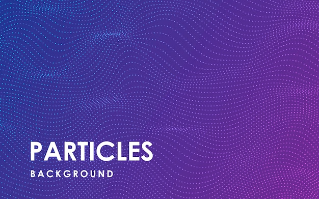 Динамический абстрактный фон волнистые частицы