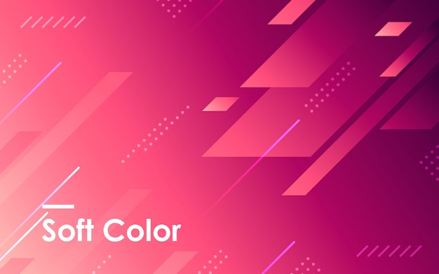 紫色のグラデーションの幾何学的形状の背景