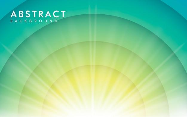 青のグラデーション背景に太陽光の効果