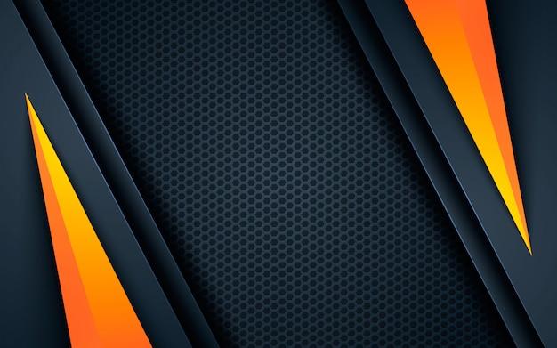 Черный абстрактный фон с желтой формой