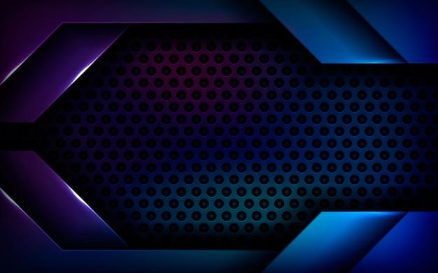 青の抽象的な寸法黒の背景