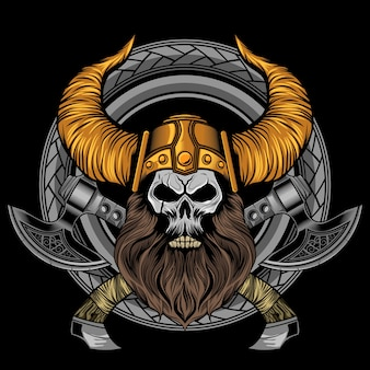 バイキングのひげ頭骨軸