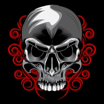 頭蓋骨のスパイラル花のベクトル