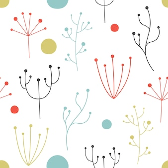 スカンジナビアスタイルのベクトルシームレスパターン