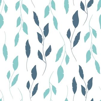 花のスタイルでベクトルシームレスなパターン
