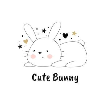 かわいいウサギのベクトル図