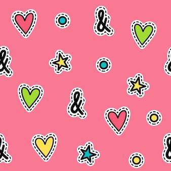 ポップアートスタイルのベクトルシームレスなパターン。