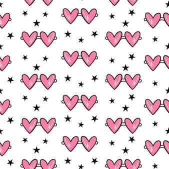 バレンタインデーのためのシームレスなパターンベクトル