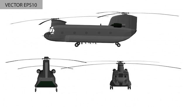 Военный вертолет боинг