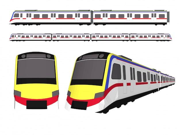 Скоростной поезд и электричка