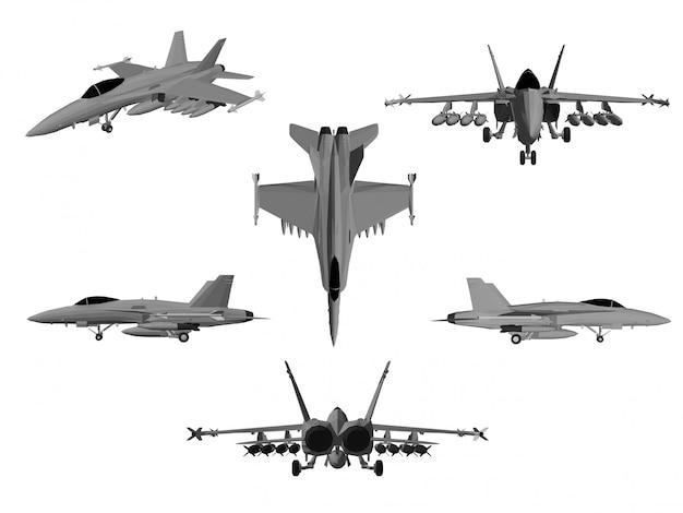 ジェット機のベクトル