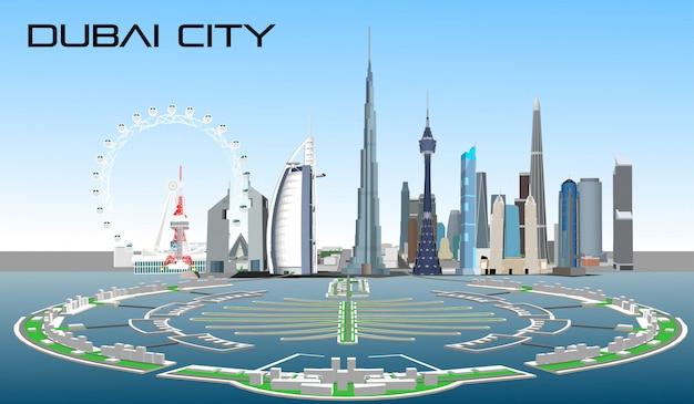 ベクトル都市ドバイ