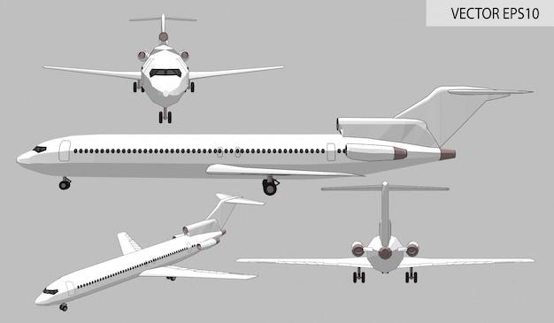 白い旅客機