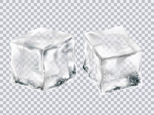 透明な氷のキューブ