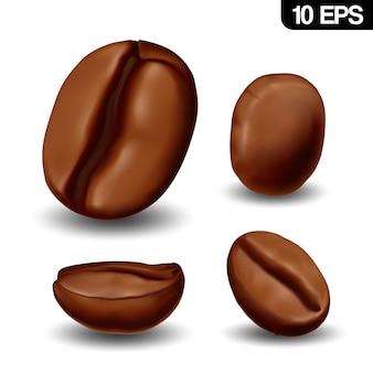 Реалистичные кофейные зерна