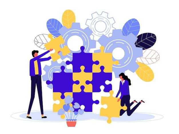 ウェブデザインのためのマーケティングのための近代的なフラットデザインのビジネスコンセプト。