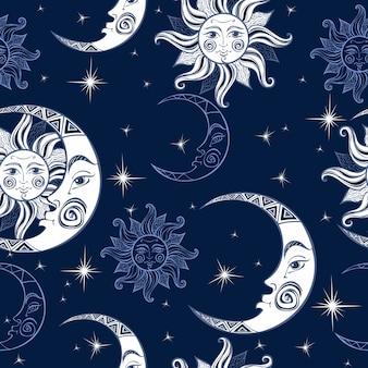 太陽と月のパターン。