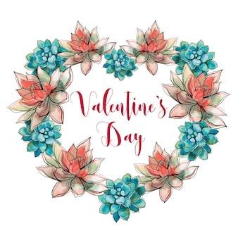 多肉植物の心。バレンタイン