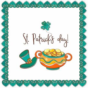 Поздравительная открытка с днем святого патрика
