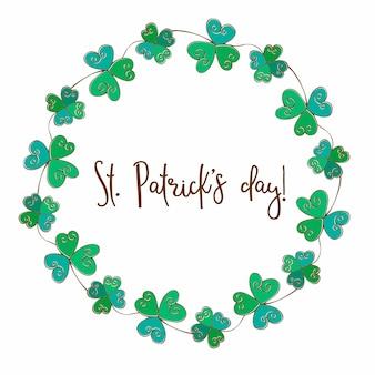 聖パトリックの日のお祝い花輪。