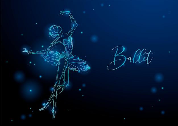 Светящаяся фантастическая картина танцующей девушки
