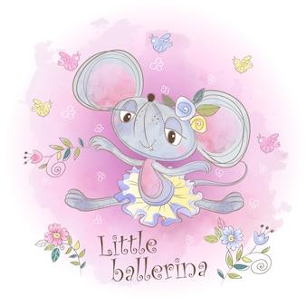 Милая маленькая мышка балерина