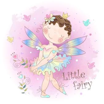 小さなおとぎ話の妖精。森の少女エルフ。